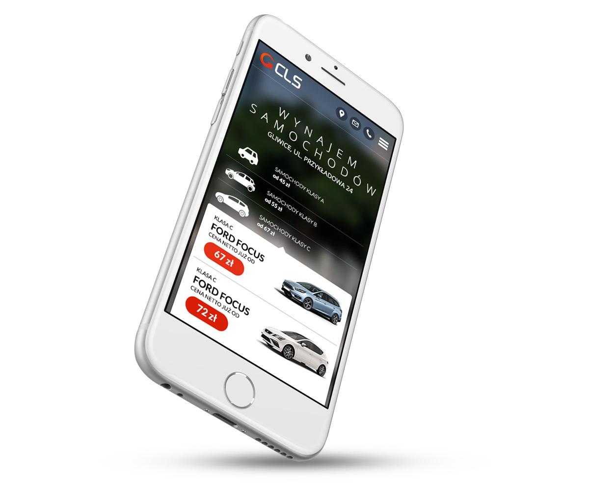 CLS - wypożyczalnia samochodów z nowoczesną atrakcyjną stroną internetową