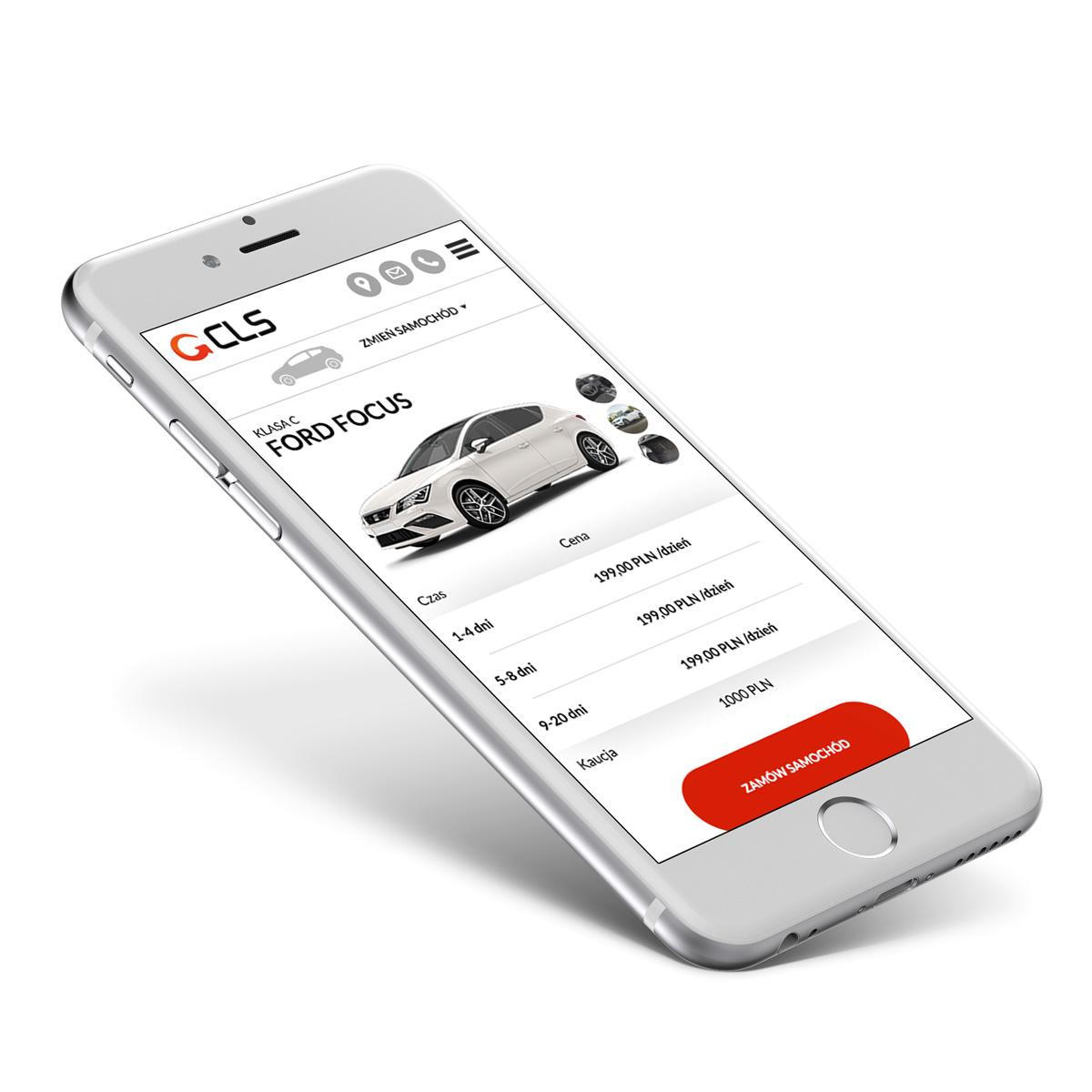 CLS - responsywna strona wypożyczalni samochodów z Gliwic