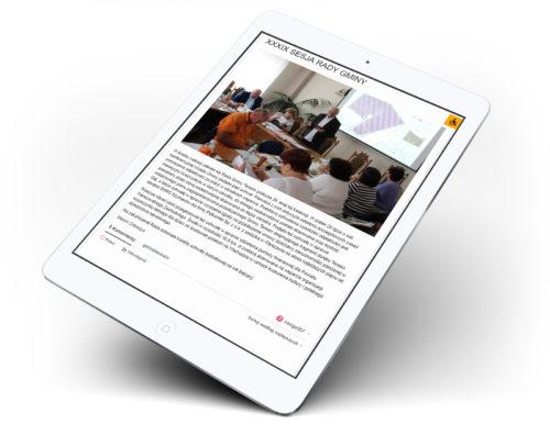 Wizualizacja działania serwisu internetowego Gminy Teresin