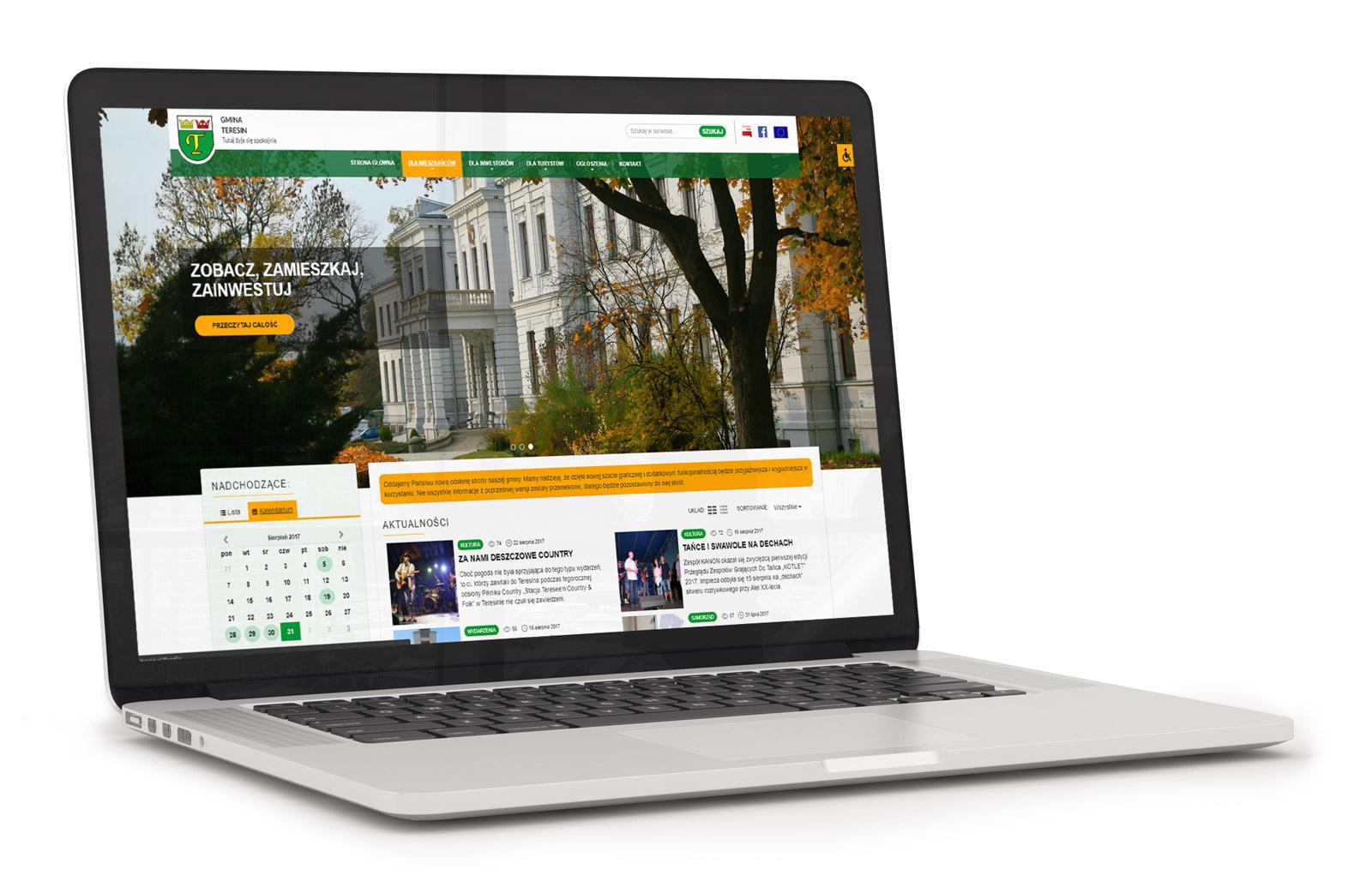 Nowy miejski serwis internetowy w Gminie Teresin ze wsparciem dla WCAG 2.0 oraz RWD