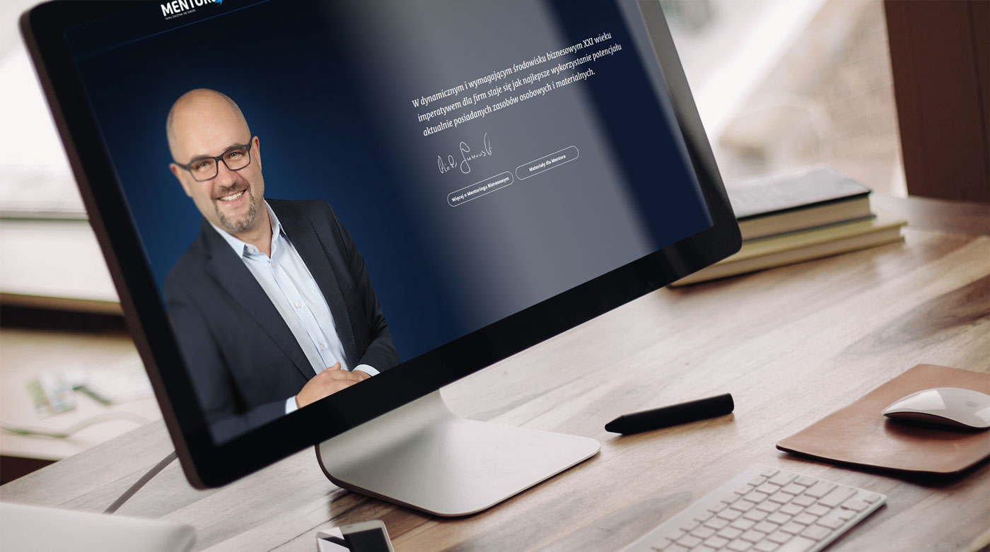 Strona www Mentorus Piotr janowski - nowy projekt do internetu dot. coachingu