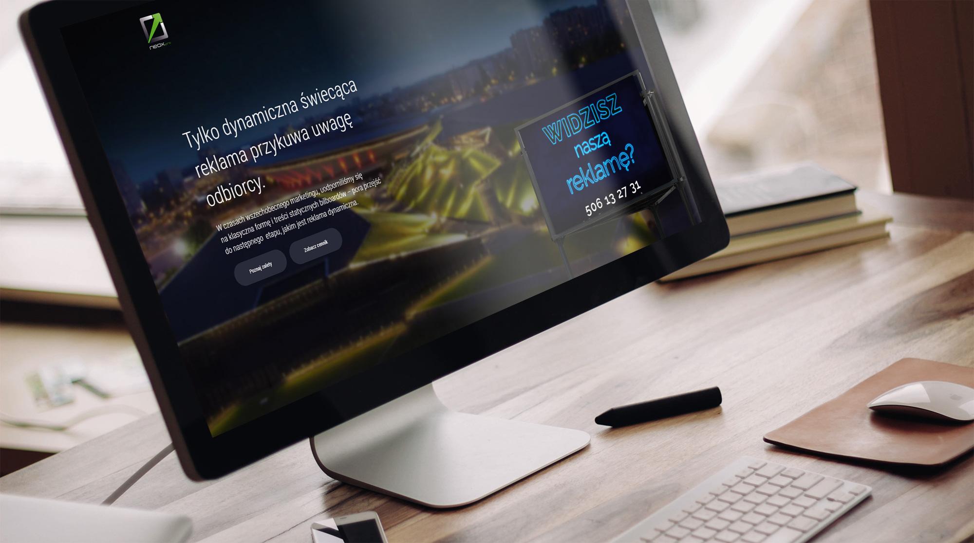 Neox - nowoczesna strona internetowa longpage