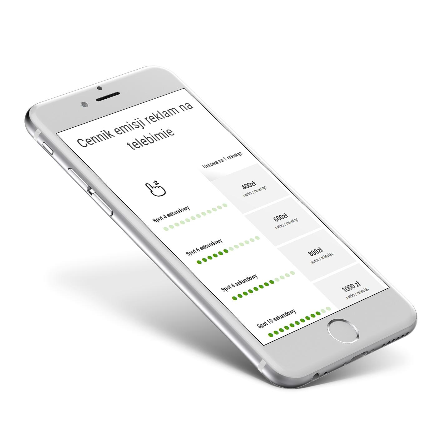 Neox - widok responsywnej strony www na telefonie
