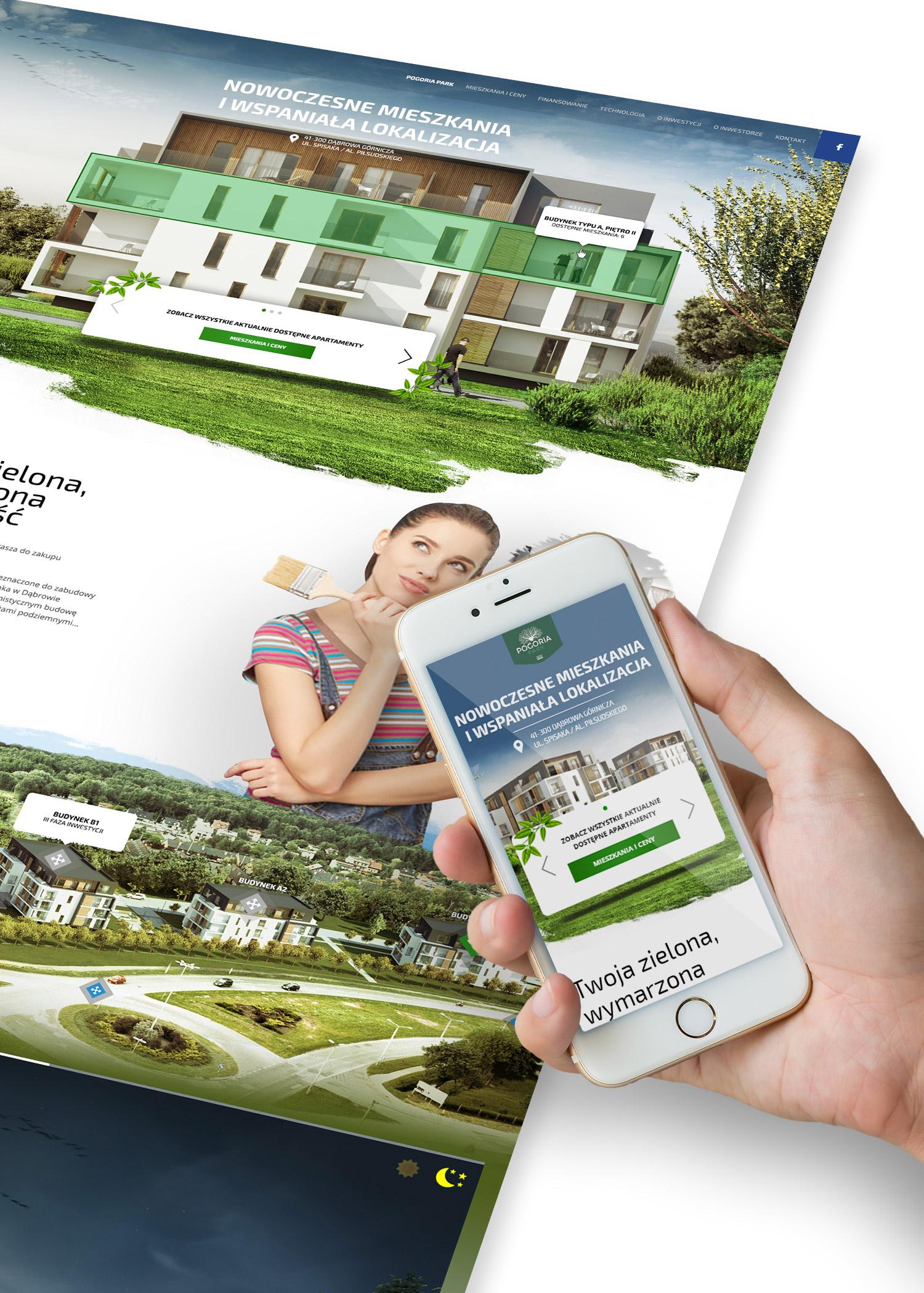 Projekt nowoczesnej strony internetowej dla dewelopera - Pogoria Park z Dąbrowy Górniczej, Valvi