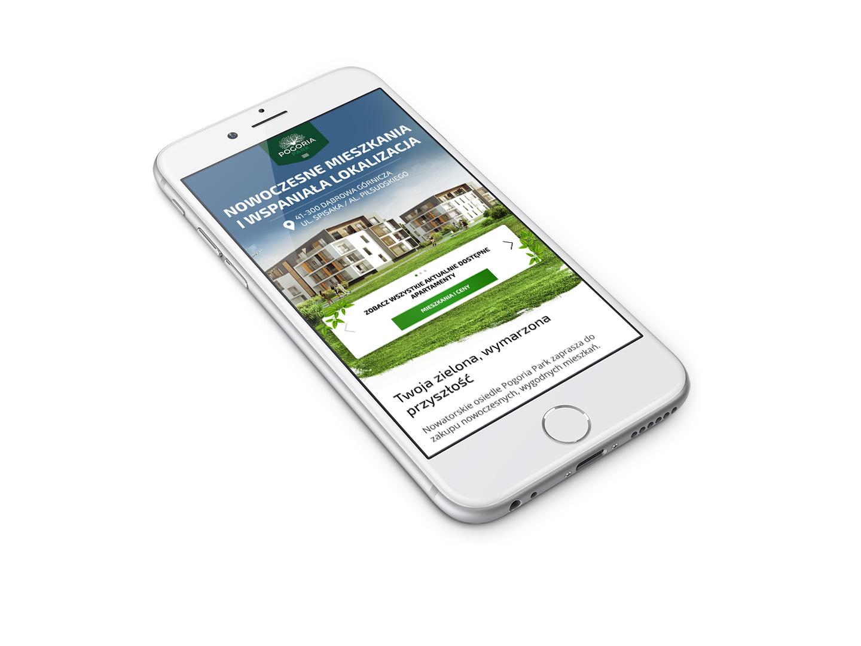 Pogoria Park Valvi - mobilna strona internetowa z ofertami mieszkań na sprzedaż, deweloper