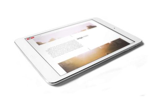 Meble Rust - mockup nowej strony internetowej na urządzeniu mobilnym