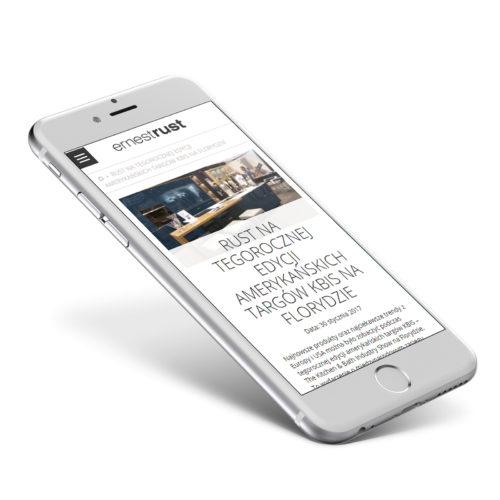 Meble Rust - wersja mobilna strony internetowej producenta mebli