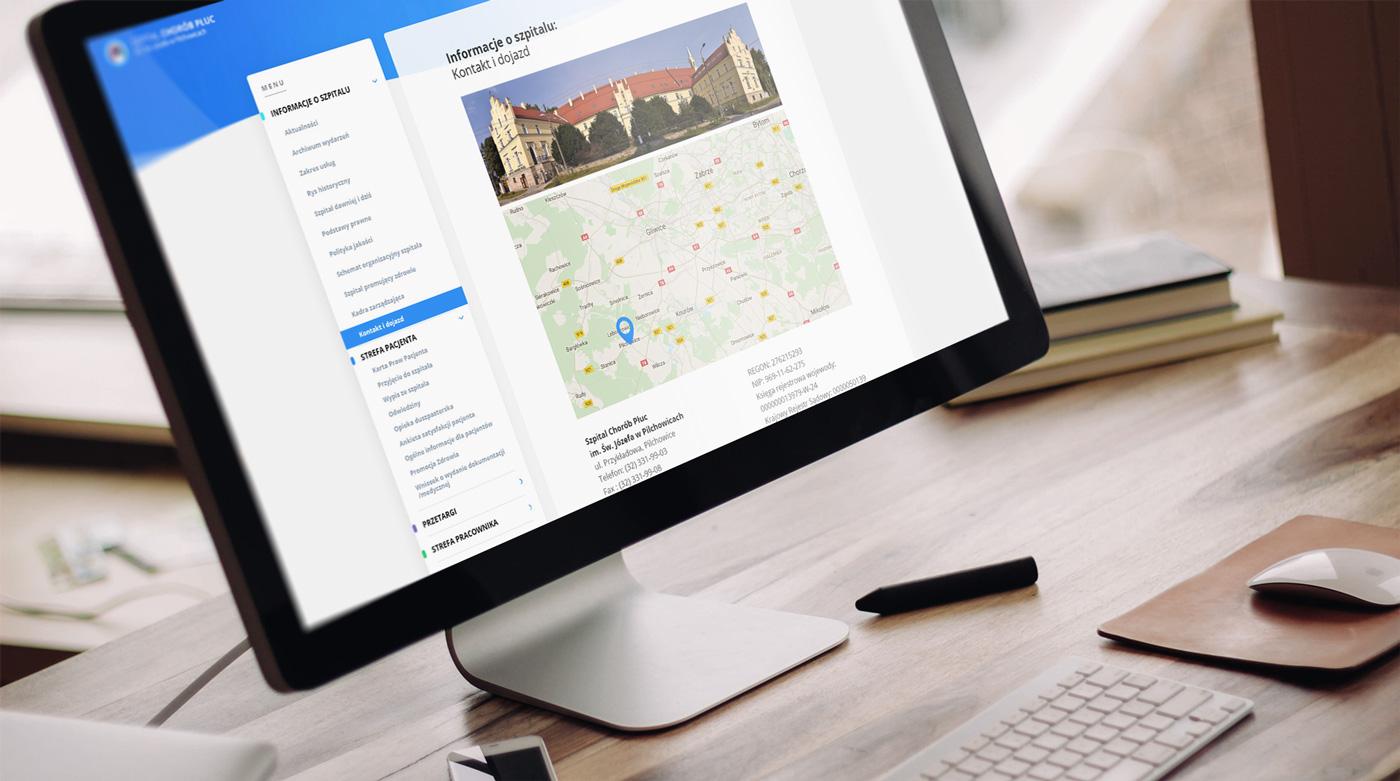 Szpital Pilchowice - strona na WordPress dla szpitala ze wsparciem dla WCAG 2.0 dla osób z niepełnosprawnościami