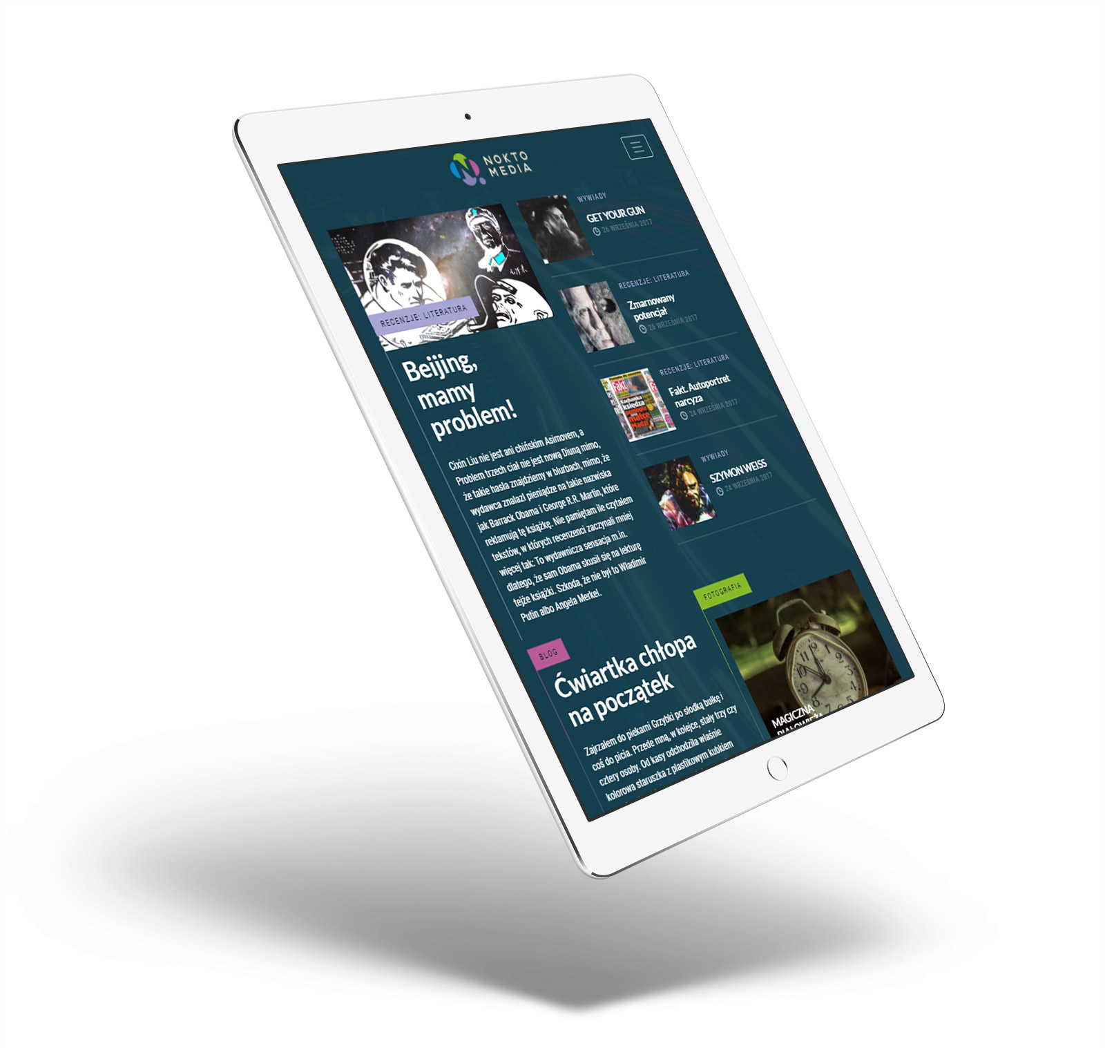 Noktomedia - nowoczesny serwis publicystyczny: recenzje książek, muzyki, filmów. Publicystyka, fotorelacje, media