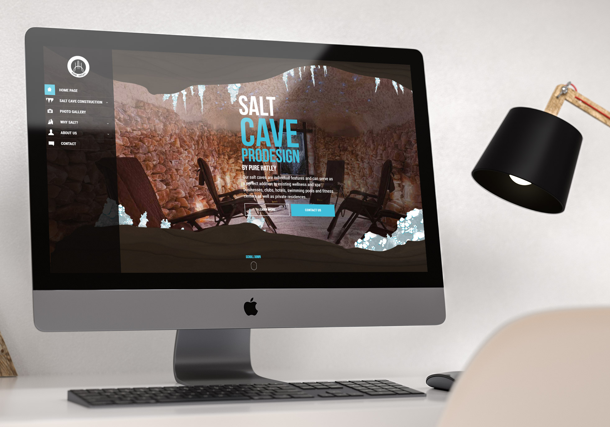 Salt Cave - website concept with modern webdesign, parallax, fullscreen