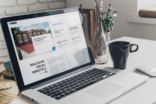 RUKA Projekt - wizualizacja projektu nowej strony internetowej