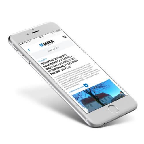 RUKA Projekt responsywna strona RWD na telefonie