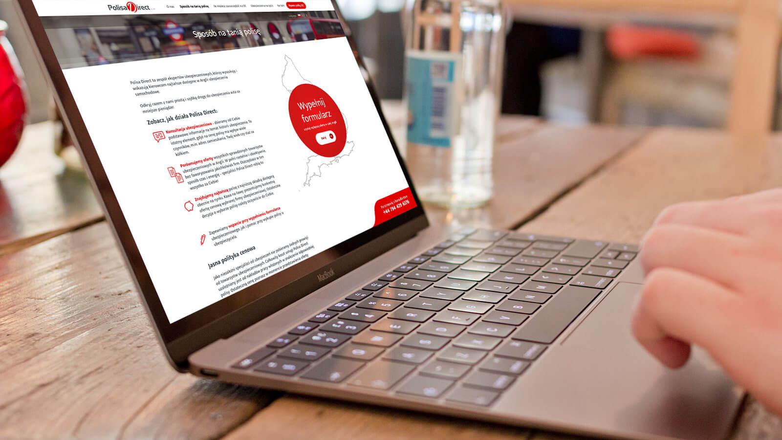 Polisa Direct - strona internetowa o ubezpieczeniach w Anglii