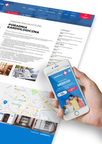 Medicus - projekt nowej strony internetowej