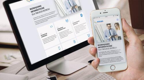 Projekt strony internetowej Atinea - rozwiązania informatyczne dla firm