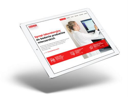 Wizualizacja na tablecie projektu nowej strony www dla Bentley Polska