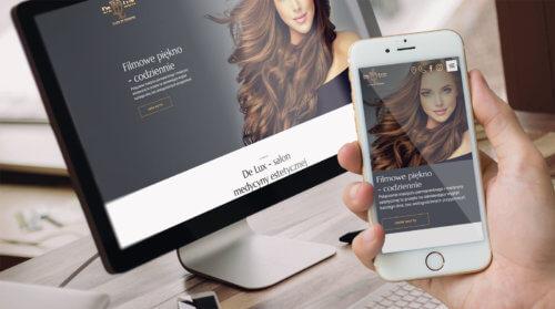 De Lux strona internetowa salonu urody i medycyny estetycznej z Katowic na Slasku