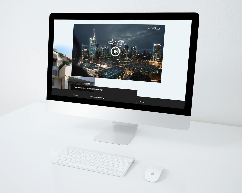 Wizualizacja strony internetowej BAUMAN