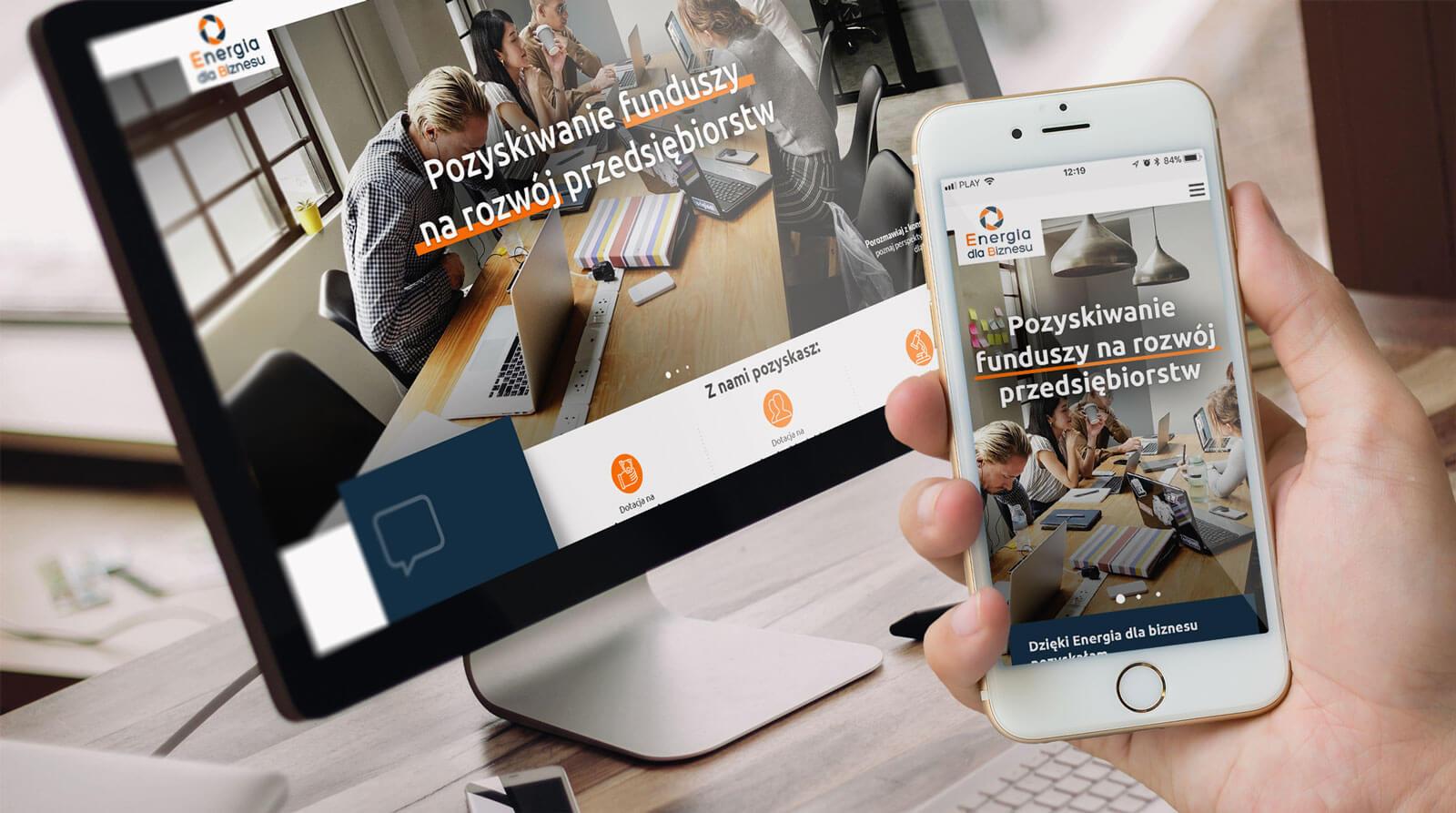 Energia dla biznesu - projekt strony internetowej