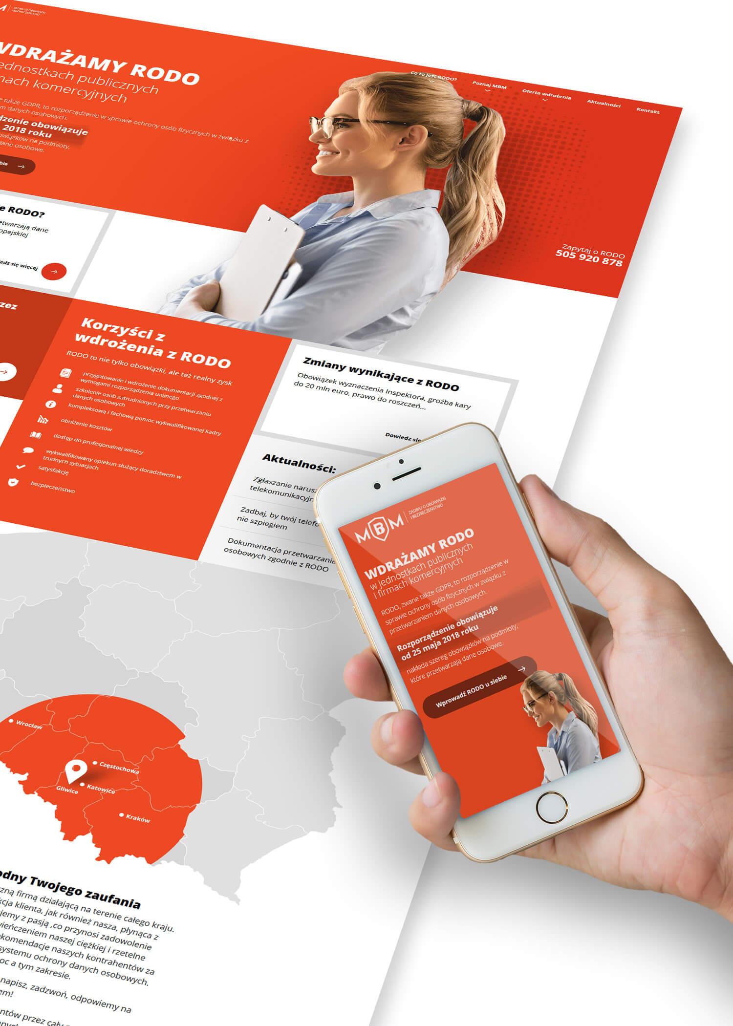 MBM - strona internetowa dla gliwickiej firmy zajmującej się bezpieczeństwem informacji. Lokalizacja: Gliwice, Śląsk.