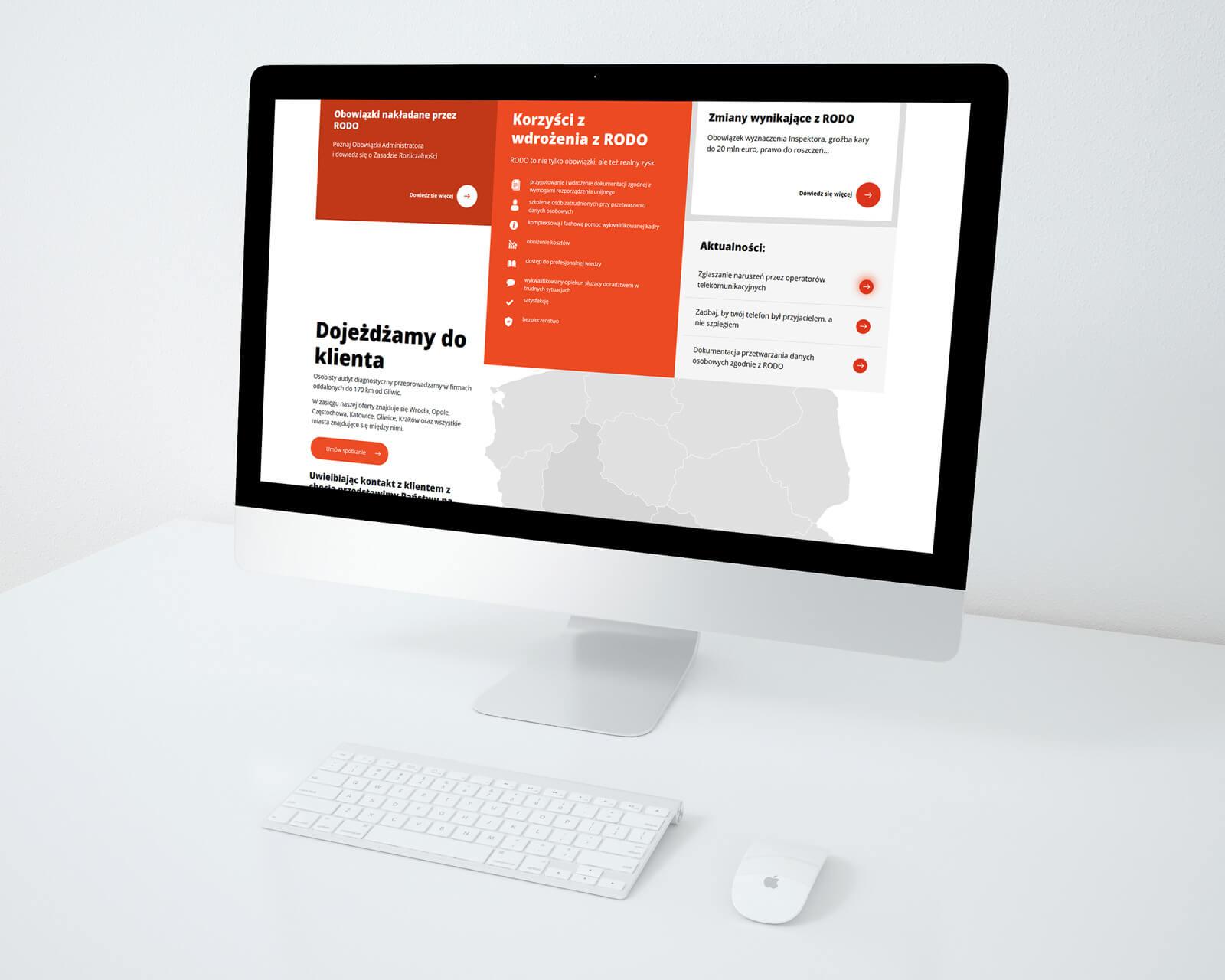 Projektowanie stron internetowych na przykładzie MBM, gliwickiej firmy zajmującej się bezpieczeństwem informacji. Lokalizacja: Gliwice, Śląsk.