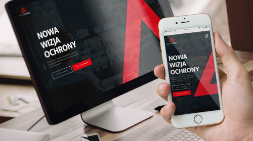 DELTAPRIME wizualizacja projektu strony internetowej dla nowoczesnych systemów ochrony