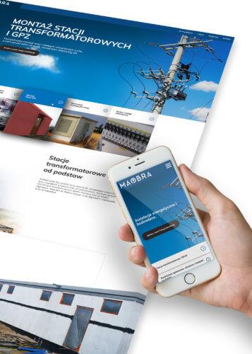 MAOBRA - nowa strona internetowa - stacje transformatorowe elektryka