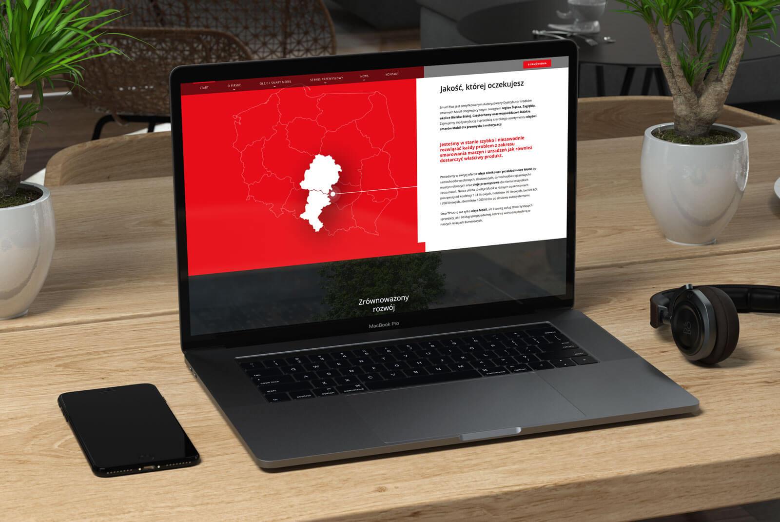 Projekt strony głównej serwisu www dla SmarTPLUS