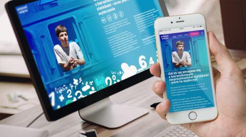 Widzieć więcej - kampania charytatywna dla Tomasza Drzewieckiego - nowa strona internetowa dla zbiórki pieniędzy