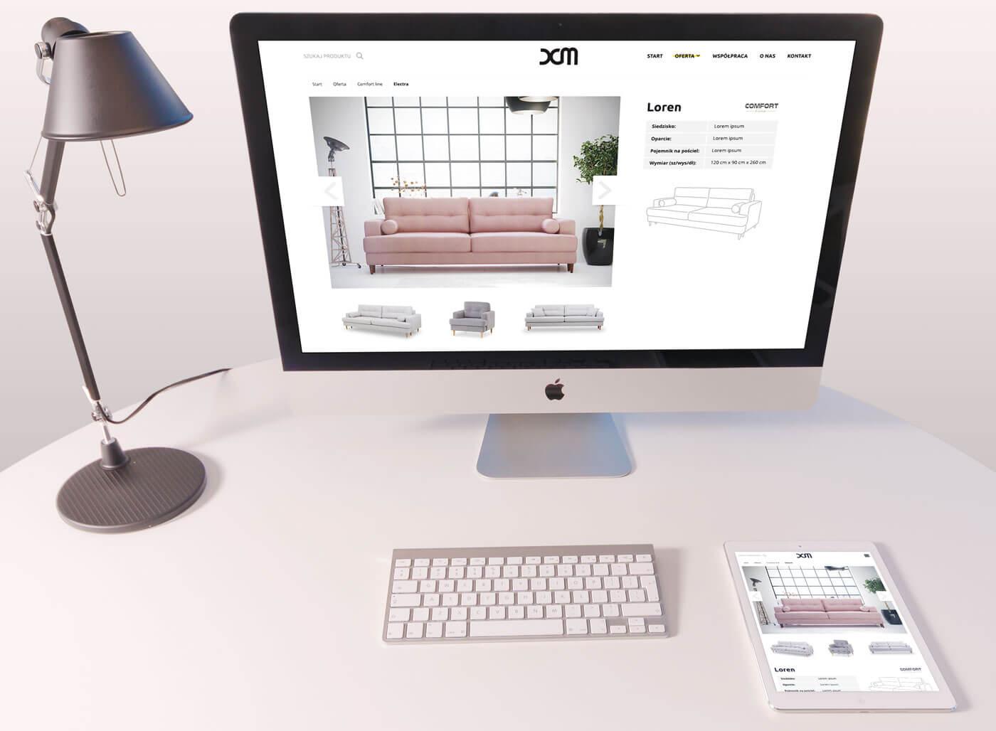 DCM nowa strona internetowa producenta mebli na wymiar