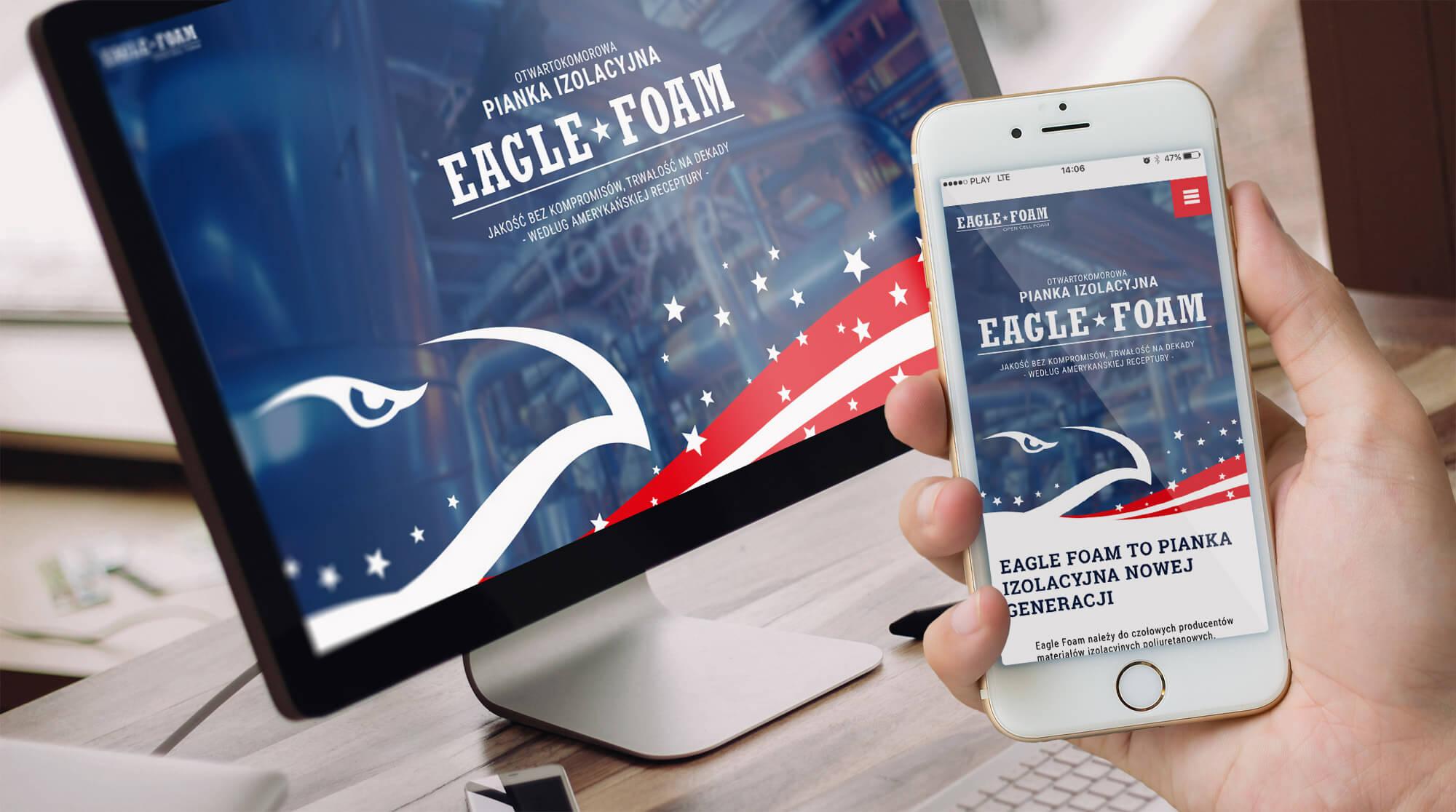 Eagle Foam nowa strona internetowa producenta pianki izolacyjnej do termomodernizacji