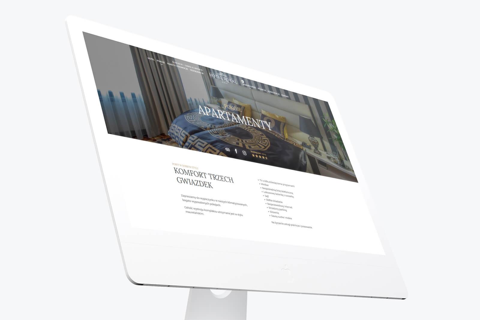Hotel Royal z Gliwic - nowa, responsywna strona internetowa. Projekt i realizacja. Lokalizacja: Gliwice, Śląsk