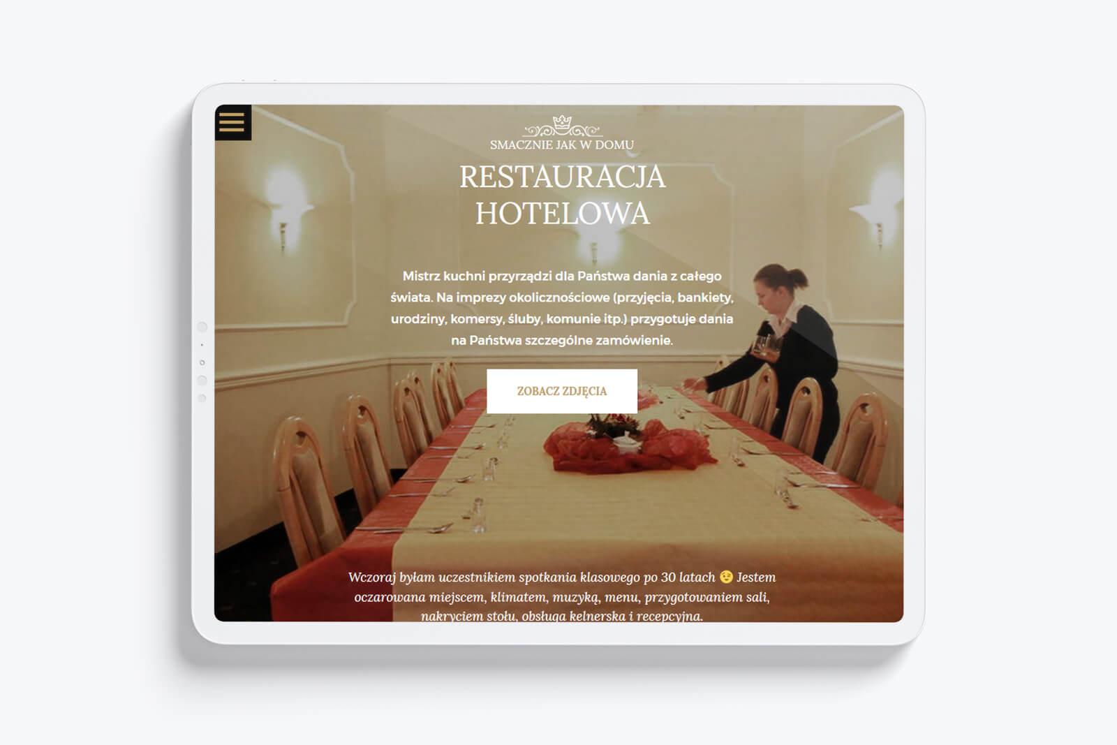 Hotel Royal Gliwice - zaprojektowaliśmy całkowicie nową, nowoczesną, unikatową strone internetową w oparicu o CMS WordPress dla hotelu z Gliwic