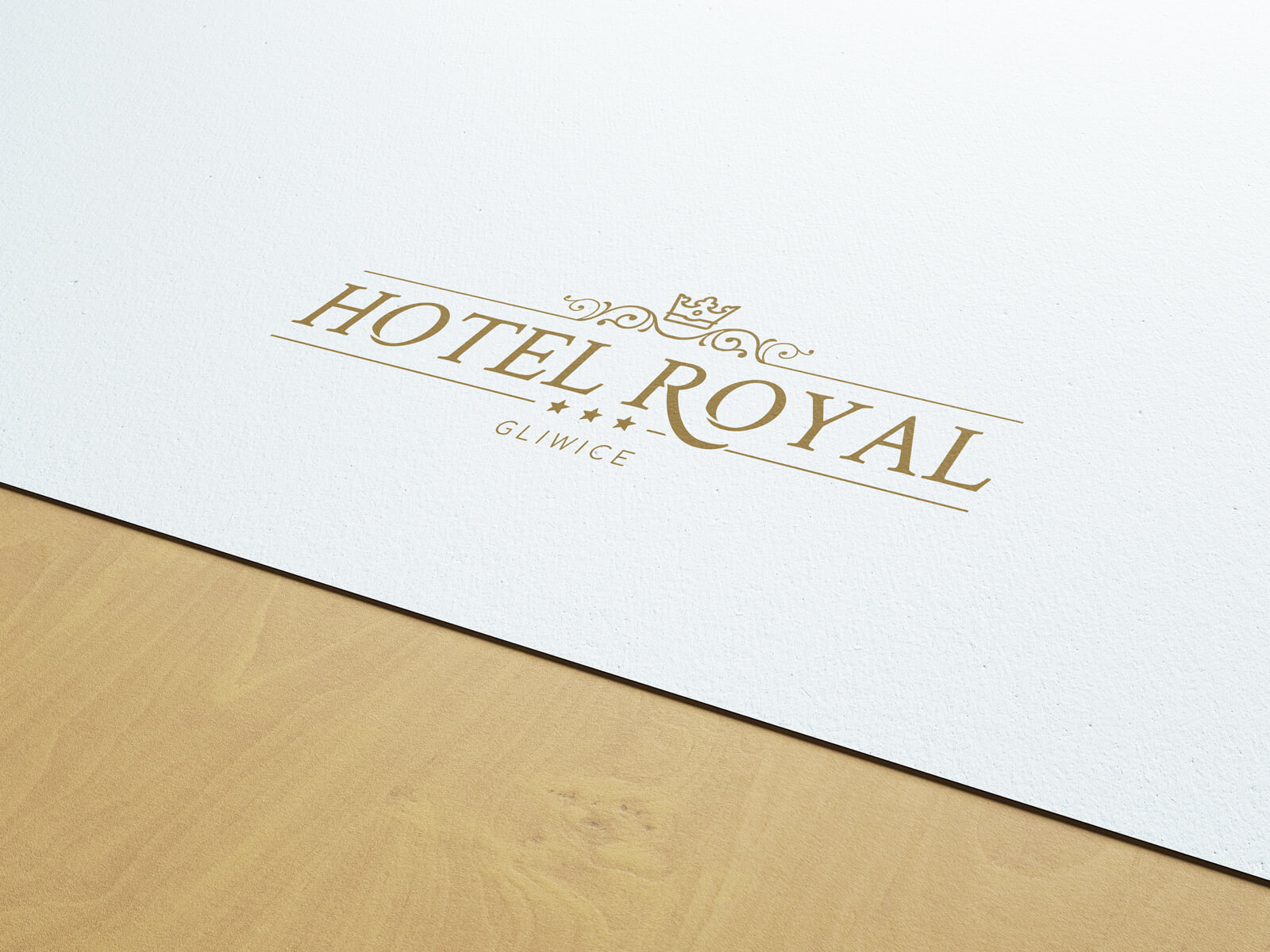 Projektowanie logo - nowe logo dla Hotelu Royal z Gliwic na Śląsku.