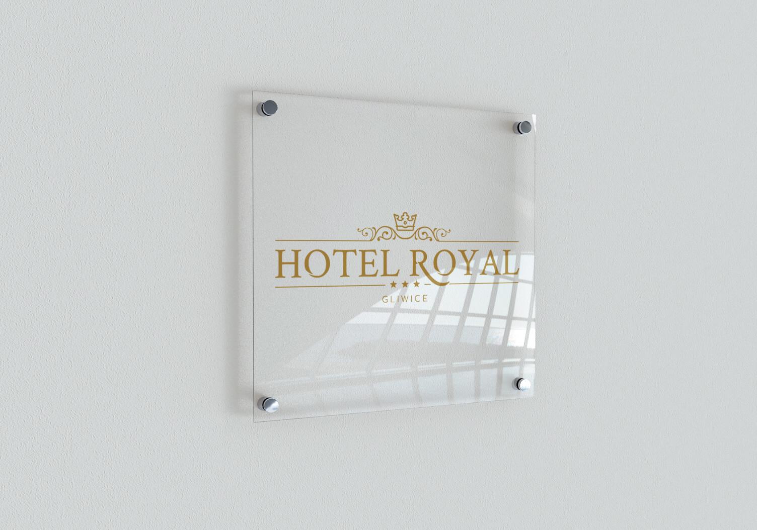 Proejtkowanie logo - branża hotelarska, kleint: Hotel Royal Gliwice