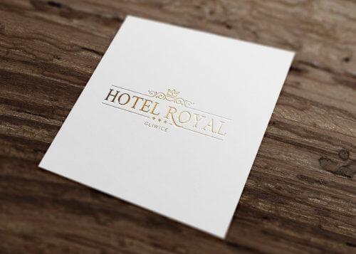 Hotel Royal Gliwice - wizualizacja projektu nowego logo, liftingu logo
