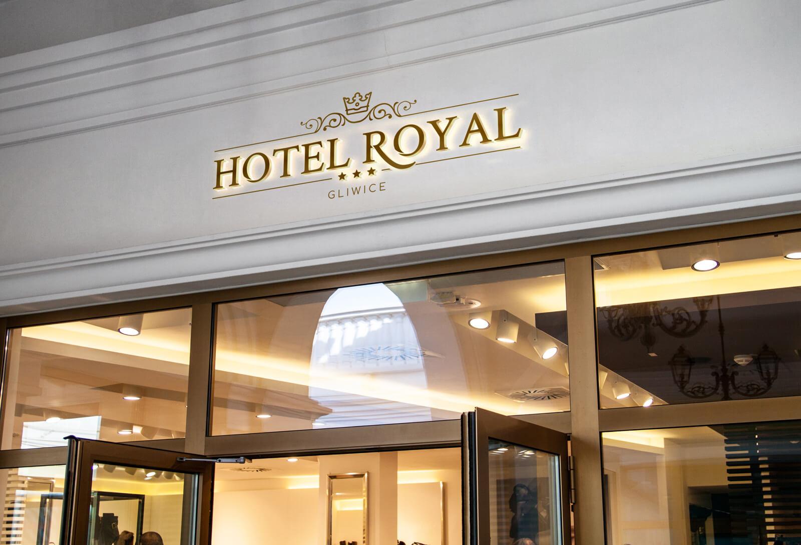 Nowe logo hotelu Royal z Gliwic