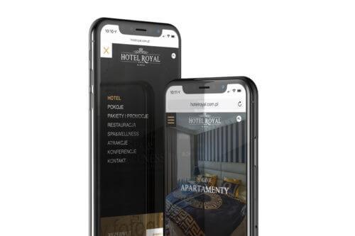 Wizualizacja projektu strony internetowej dla hotelu Royal z Gliwic