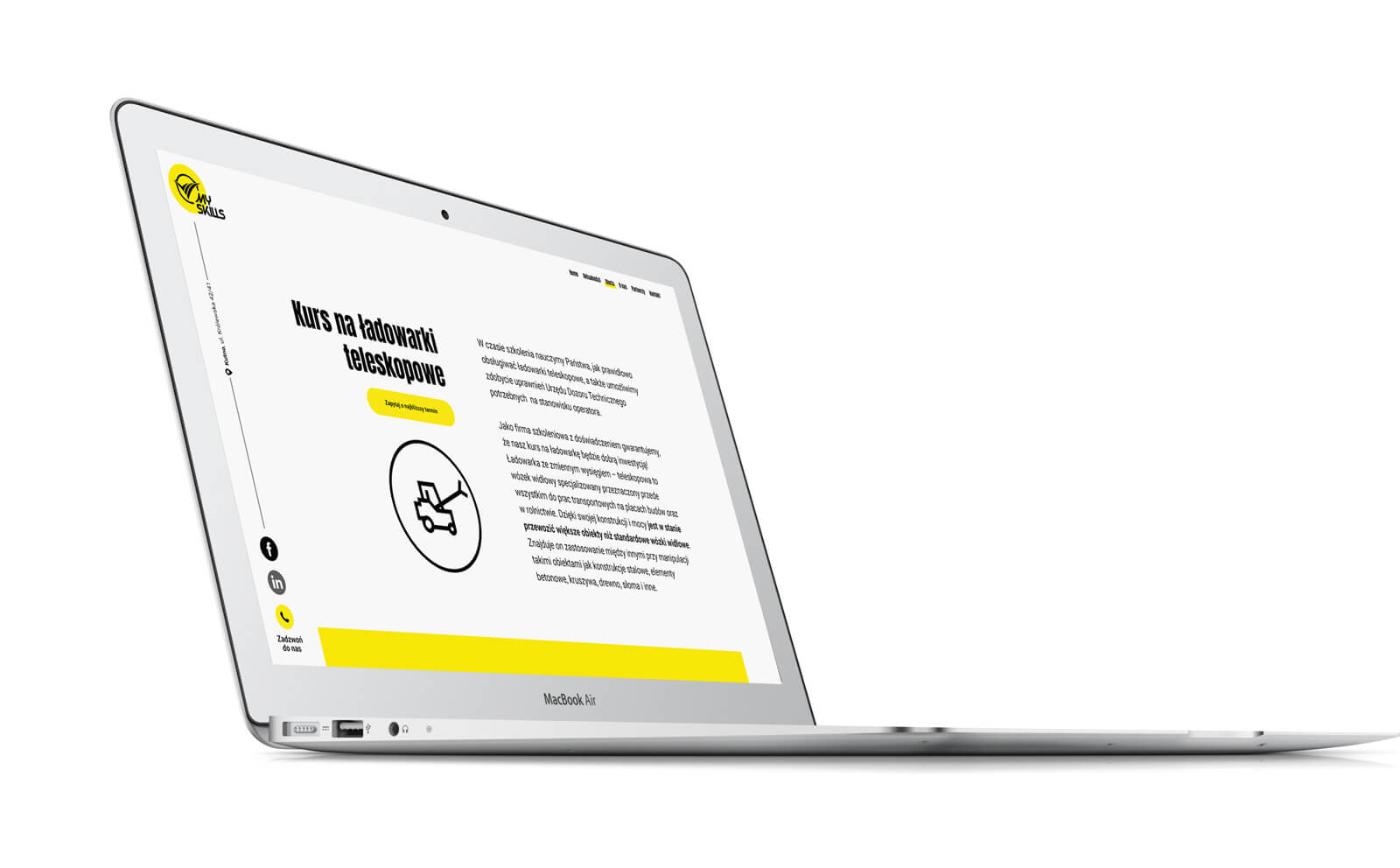 MySkills nowa strona internetowa dla szkoleń UDT. Lokalizacja; Kutno, Łódzkie.