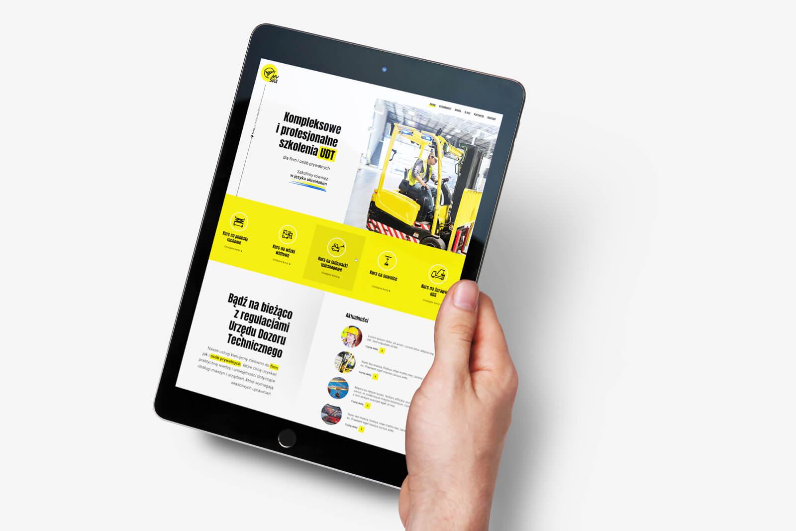 MySkills - strona internetowa. Projekt, kodowanie, wdrożenie. Lokalizacja; Kutno, Łódzkie.