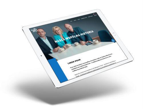 Biznes Up - mockup strony internetowej