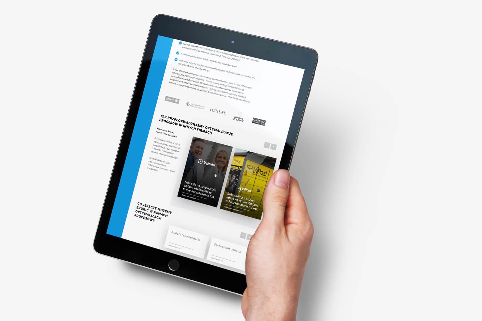 Biznes Up - RWD na nowej stronie internetowej