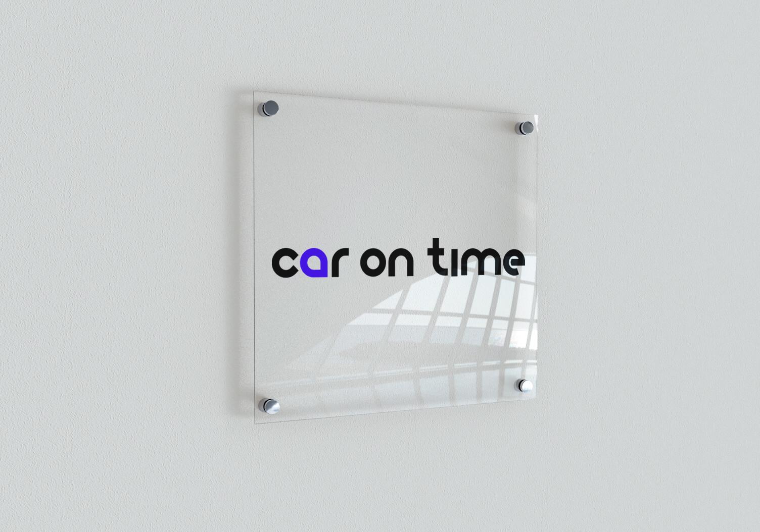 Car On Time - projekt logo i identyfikacji wizualnej nowej marki. Wypożyczalnia samochodów z Gliwic, Śląsk