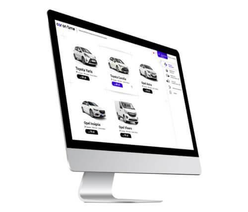 Car On Time - projekt strony internetowej dla nowej wypożyczalni samochodowej z Gliwic, Śląsk.