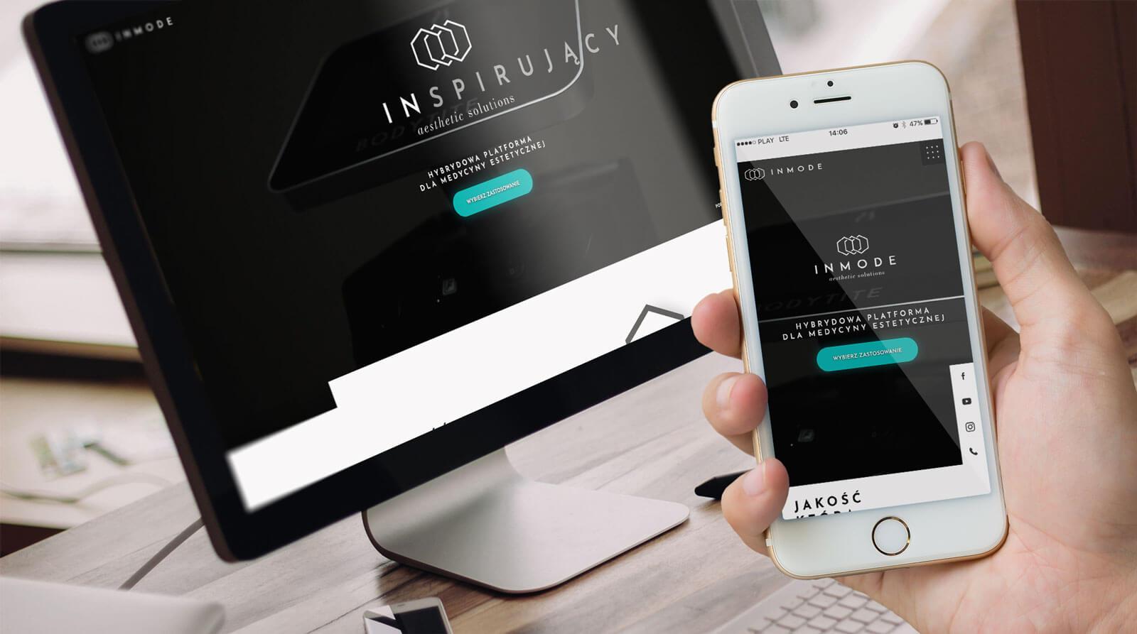 Projekt nowoczesnej strony internetowej z branży medycyny estetycznej dla marki Inmode. Lokalizacja firmy: Gliwice, Śląsk.