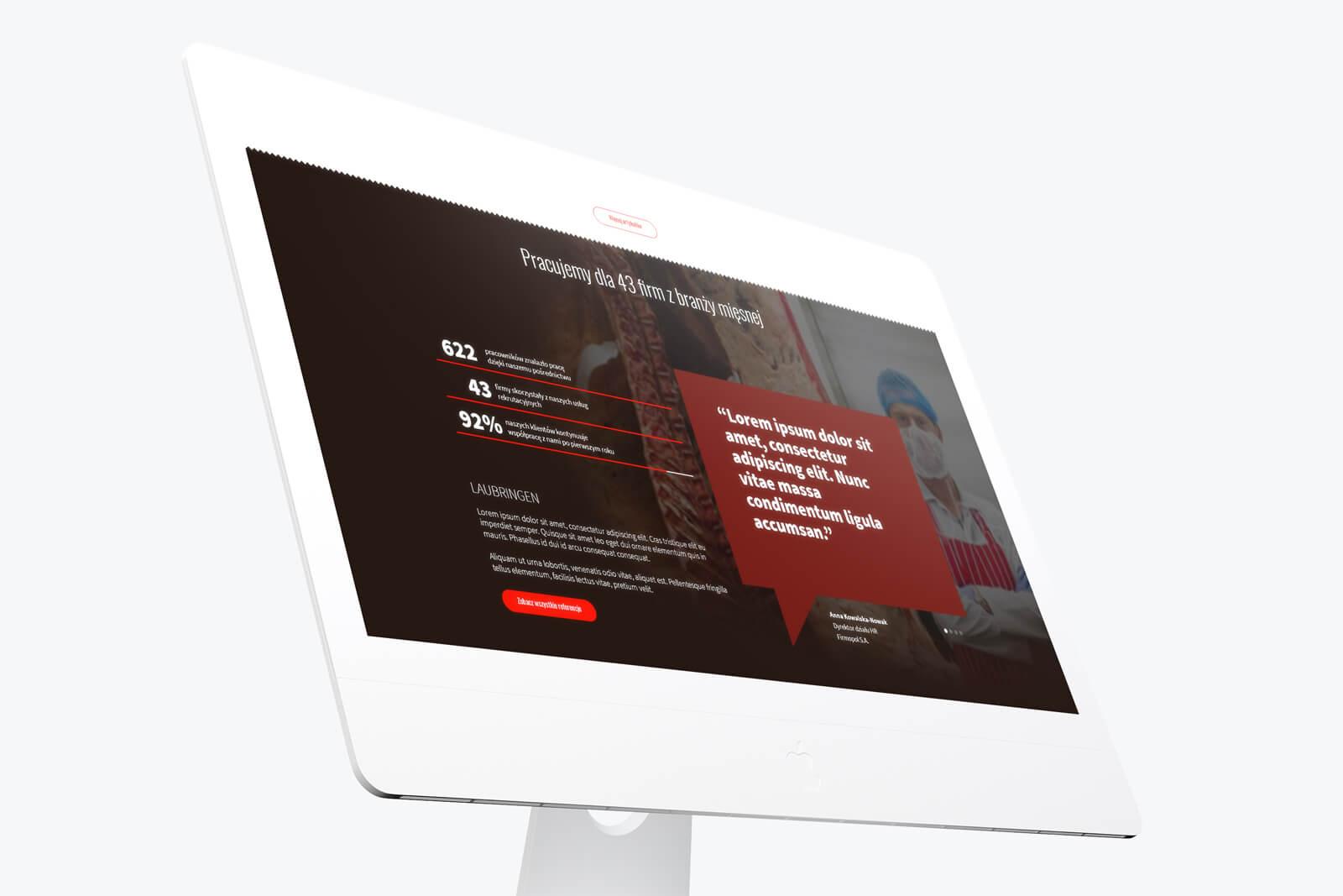 Laubringen - projektowanie widowiskowych stron internetowych. Wieruszów, Łódzkie