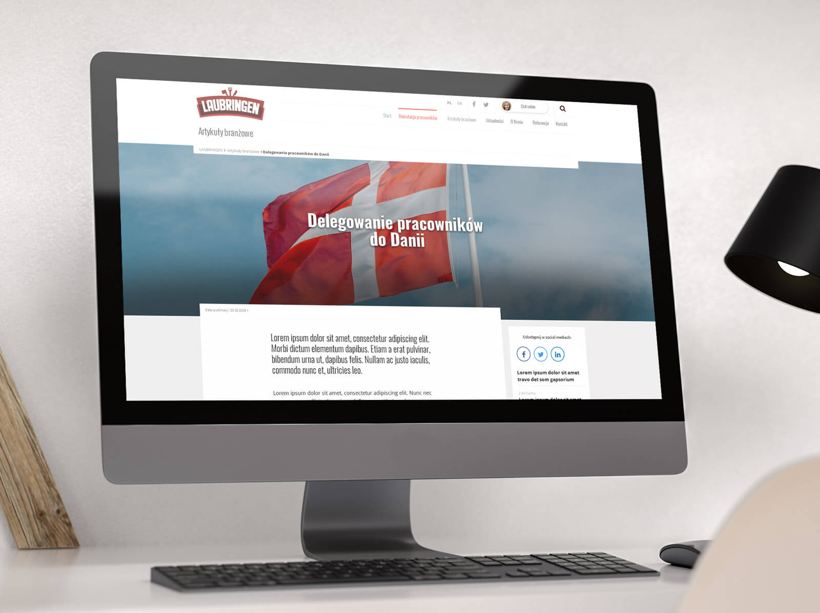Nowa strona internetowa dla Laubringen zaprojektowana w oparciu o CMS WordPress. Lokalizacja: Wieruszów, Łódzkie