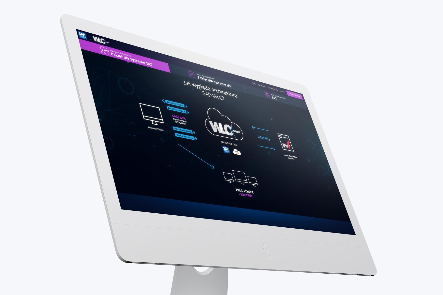 WLC SOAP Biała Lista Podatników - wizualizacja nowej strony internetowej typu one page design