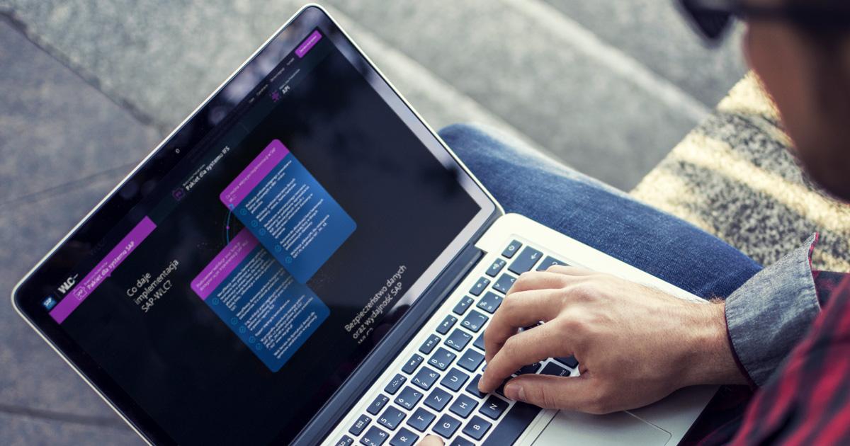 WLC SOAP Biała Lista Podatników - mockup projektu strony internetowej dla SAP CONS