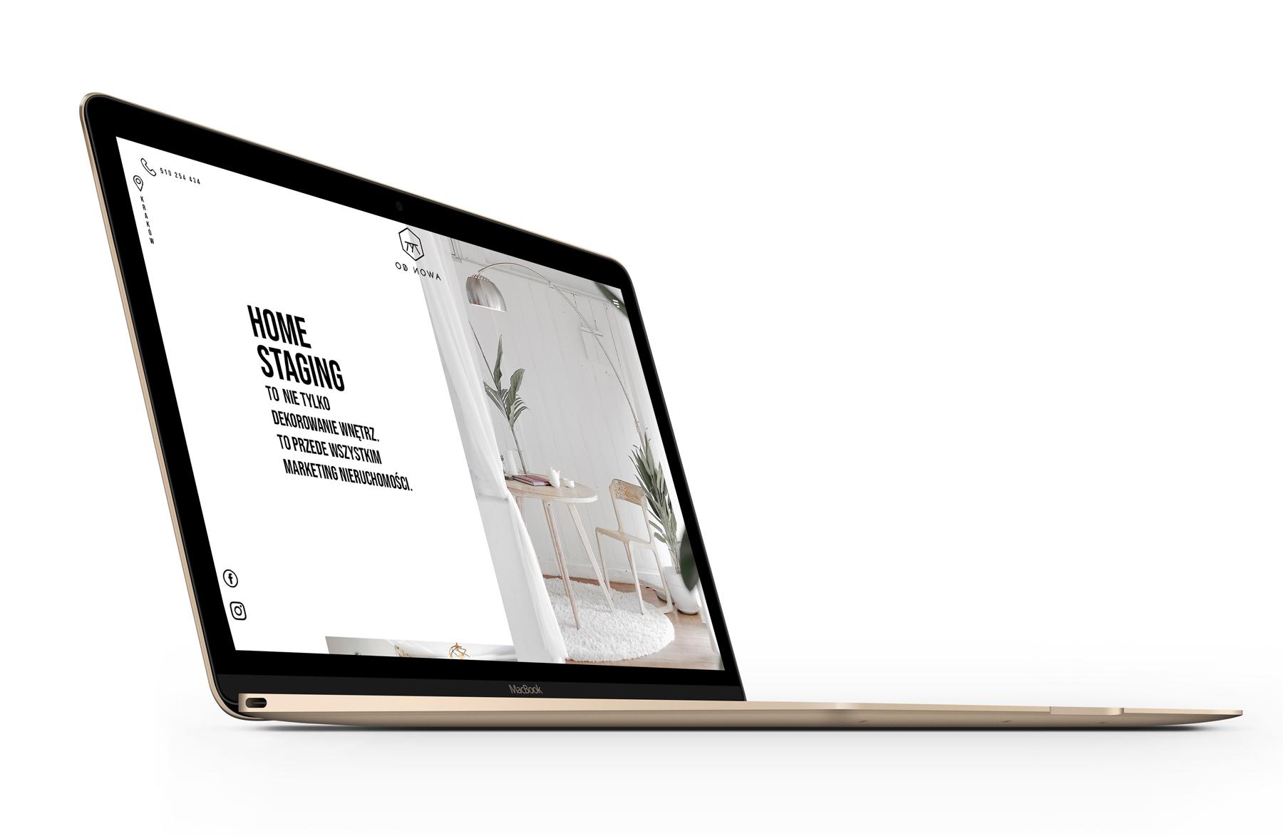 Od Nowa - home staging - wizualizacja nowej strony internetowej